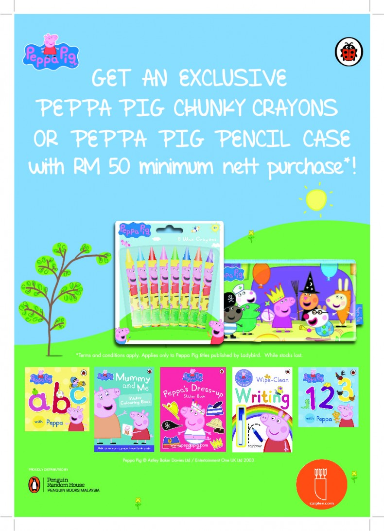 And Not Only That Get Exclusive Peppa Pig Stationery When You Spend RM 50 On Any Of The Books Offer Valid While Stocks Lasts